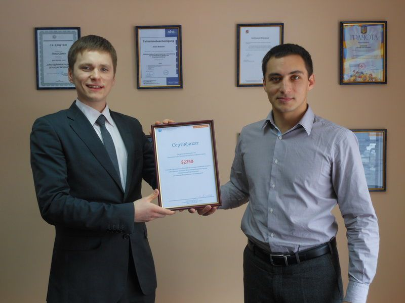 """Isaac Pintosevich Systems"" donated a certificate for 2250 US dollars to the Fund."