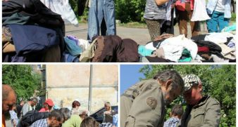 The homeless of Zhitomir were given the clothes