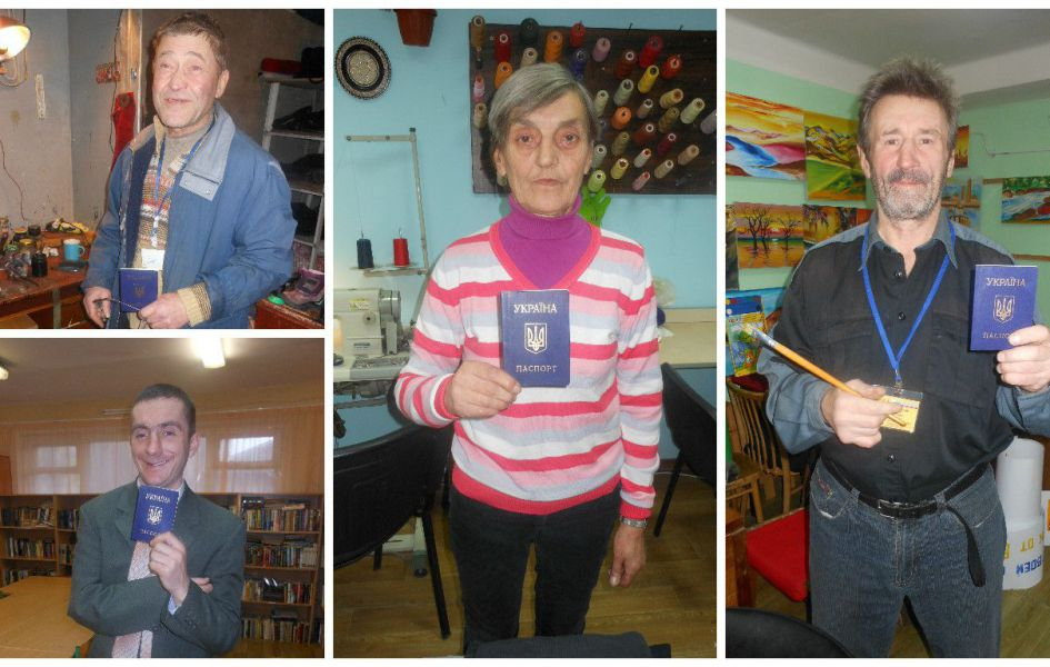 Four homeless persons restored their passports.