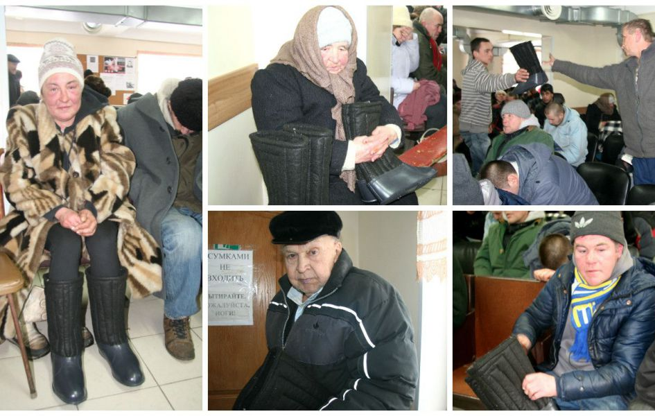 Homeless persons and pensioners received 44 pairs of footwear.