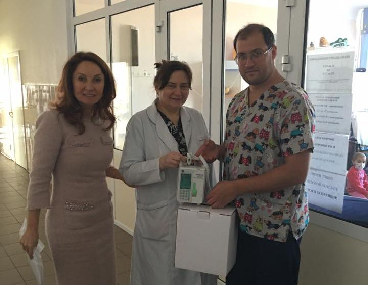 "Children's department of an oncologic dispensary received ""Infusomat"" system."