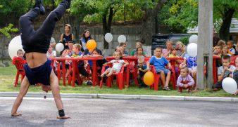 We had a children's party on 1 September!