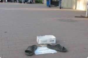 Even invisible man is engaged in charity in Odessa.