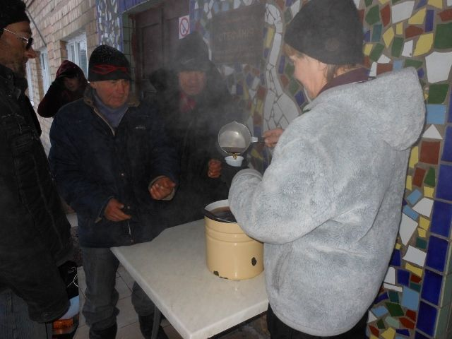 Support of the homeless in the period of frost