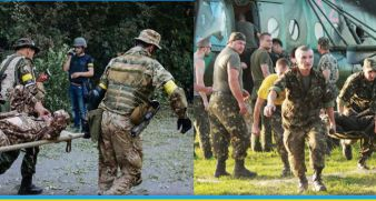 Help wounded soldiers at the ATO area