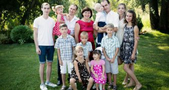 The Skomarovsky's large family