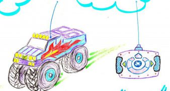 Cars on the radio for Misha, age 4, 350 UAH
