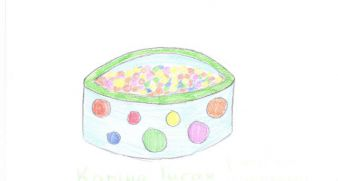 Husak Karina, 15 years old - an inflatable pool with balls, 500 UAH